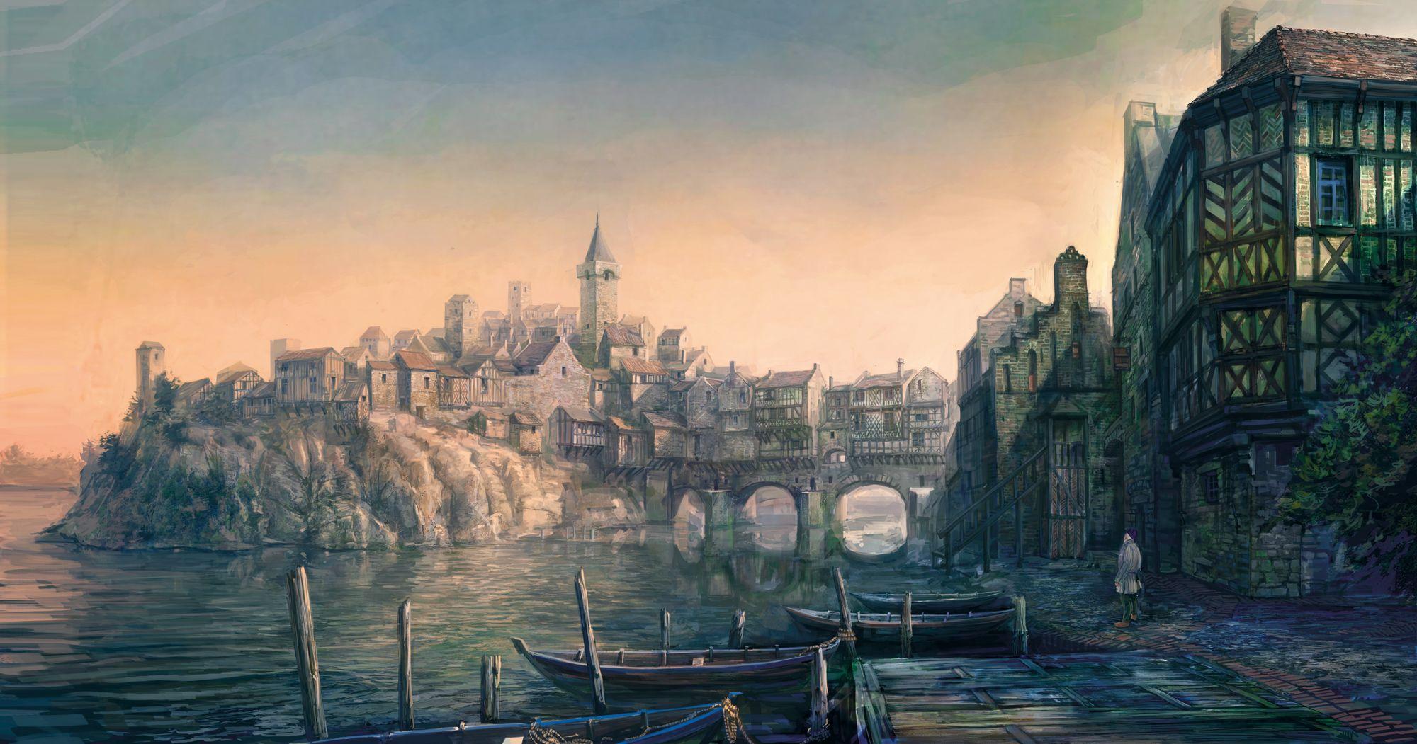 Witcher 3 environment 다크 판타지, 인아트, 판타지