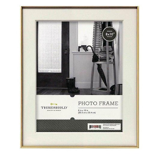 Metal Frame Gold 8x10 Threshold Medium Gold Pinterest