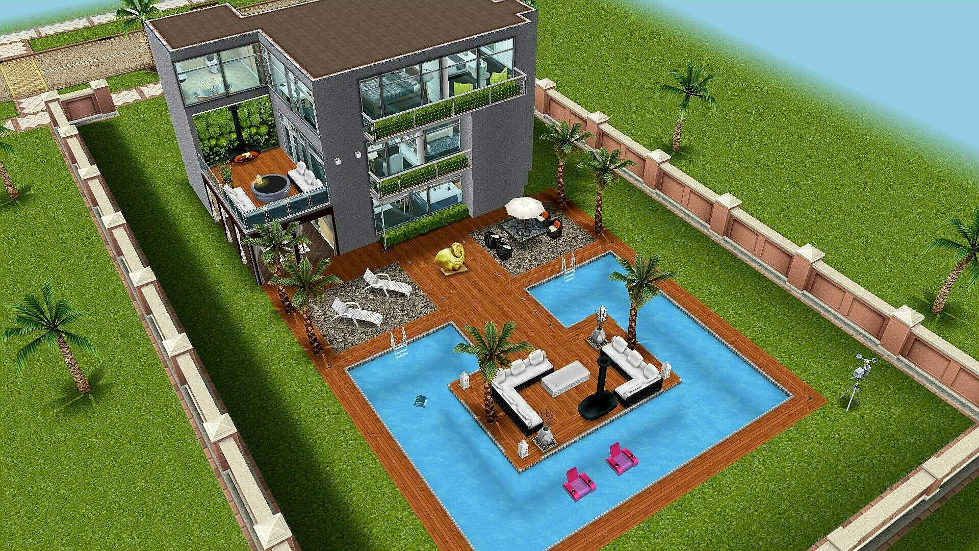 #Sims FreePlay Beach House Backyard Original Design