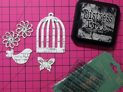 My Creative Scrapbook: Stamping on Chipboard Shapes by Kris Berc