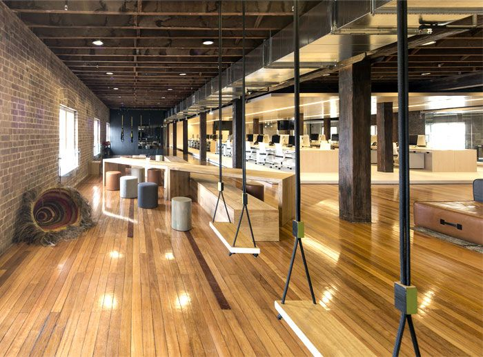 Old factory turned to cozy office space design for learning lab