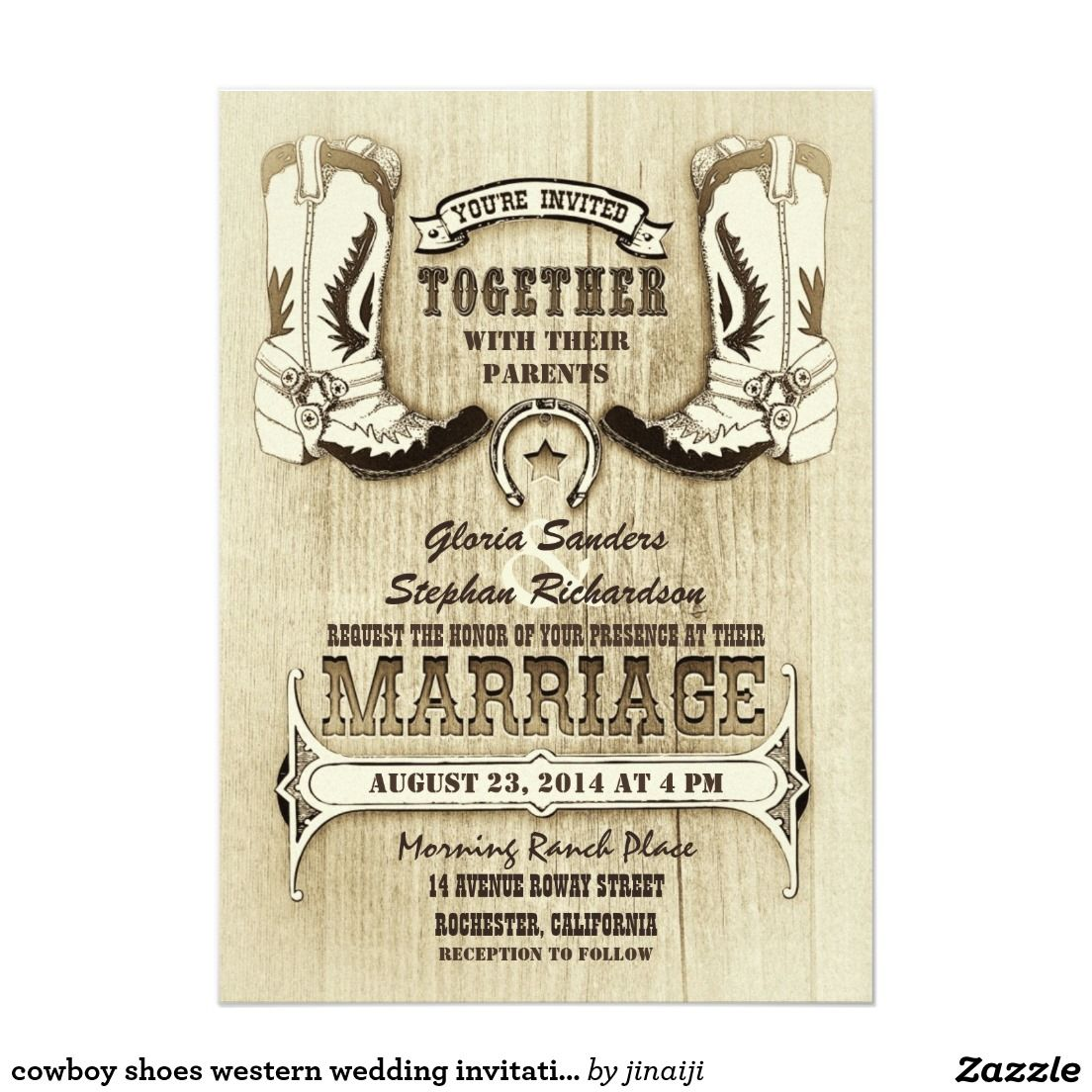 Cowboy shoes western wedding invitations | Pinterest | Weddings and ...