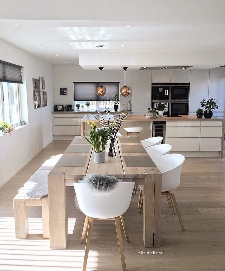 One Of My Favourite Norwegian Homes Frufjellstad Dining Room Furniture Modern Dining Table In Kitchen Dining Room Design