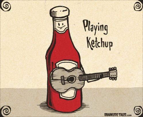 Playing Ketchup - Brainless Tales | Puns | Funny puns ...