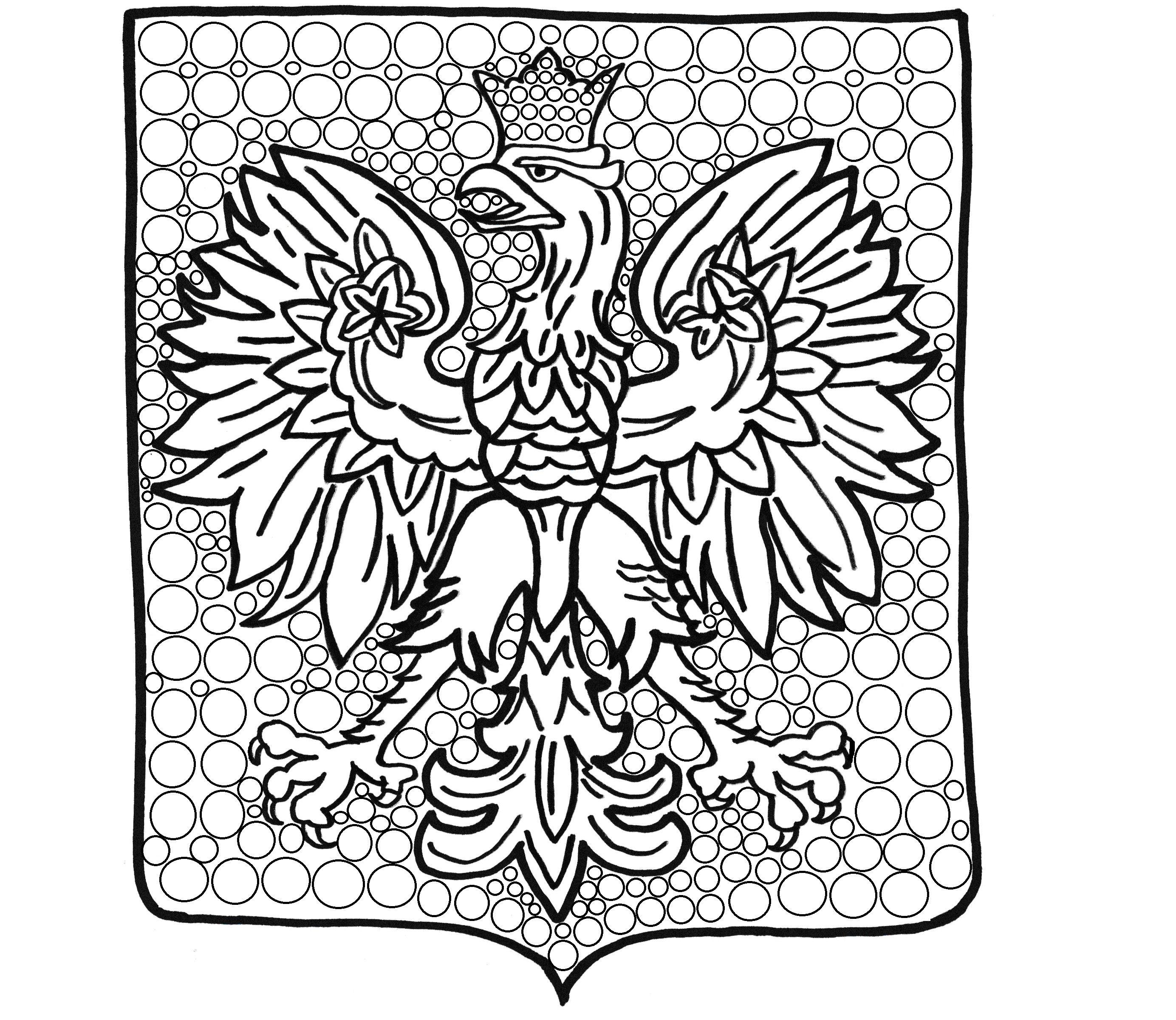 Godlo Polski Do Wyklejania Plastelina Malowania Moje Dzieci Kreatywnie Coloring Pages Arts And Crafts Cards