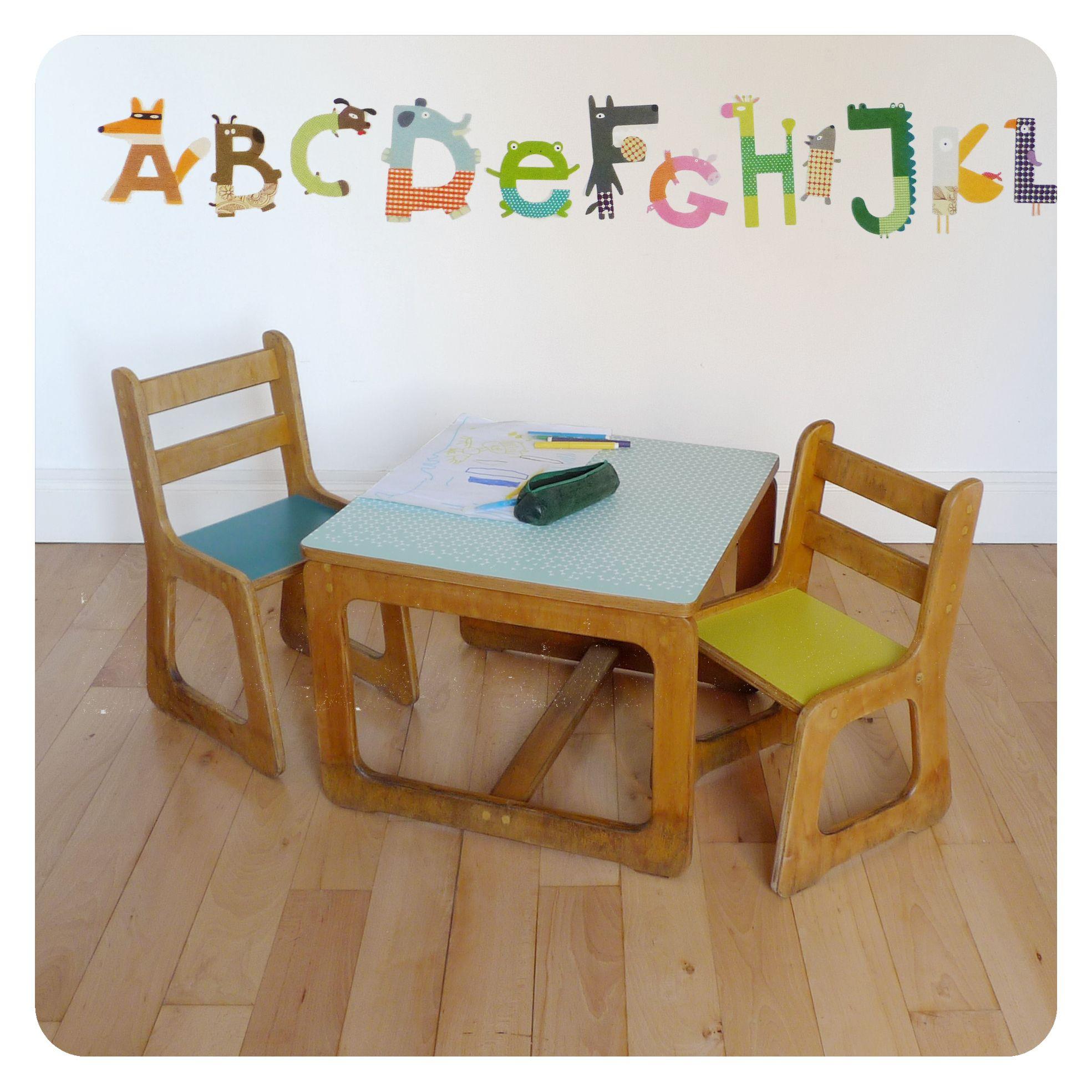 Table Et 2 Chaises Enfant