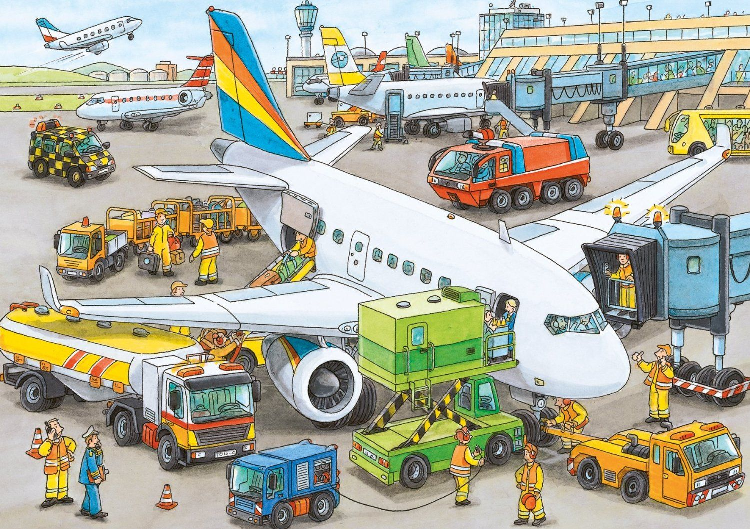 Amazon Ravensburger Busy Airport 35 Piece Puzzle