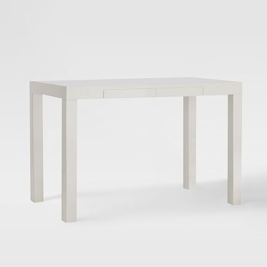 Fabulous Parsons Desk White Office Guest Room Furniture Download Free Architecture Designs Lukepmadebymaigaardcom