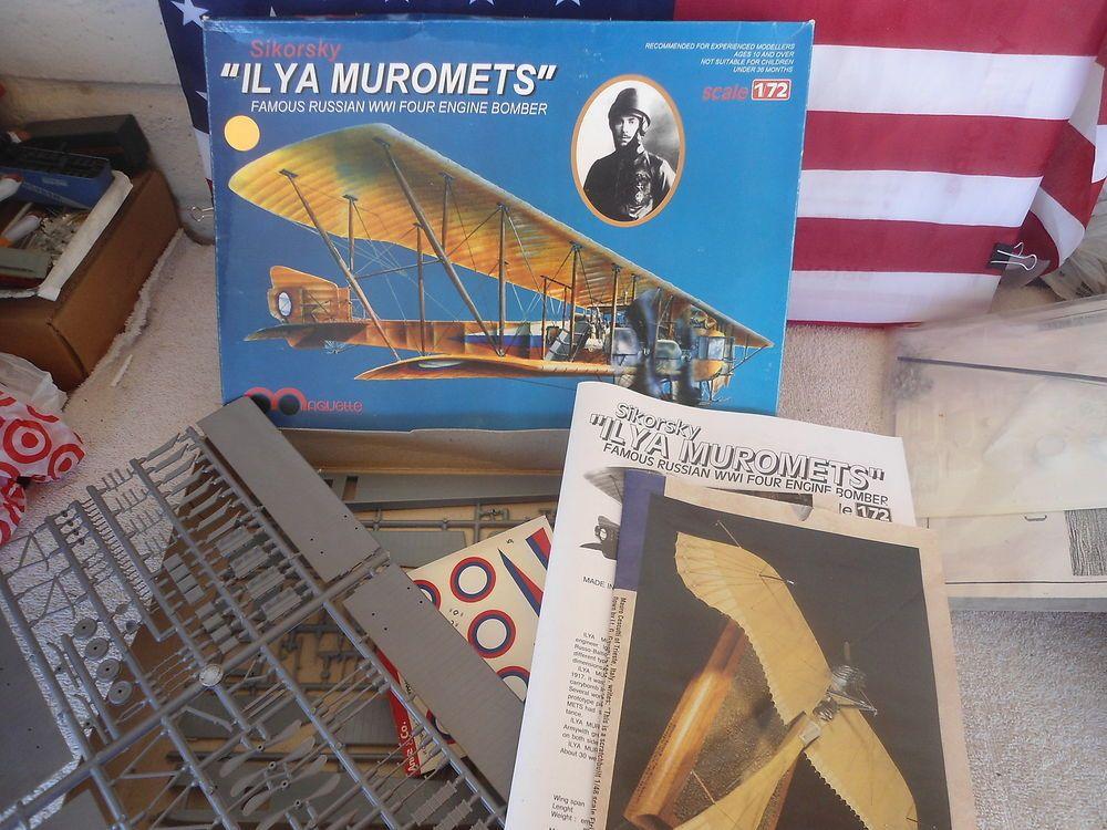 Maquette #ML2003 1/72 Sikorsky Ilya Muromets Plastic Military Airplane Model Kit #Maquette