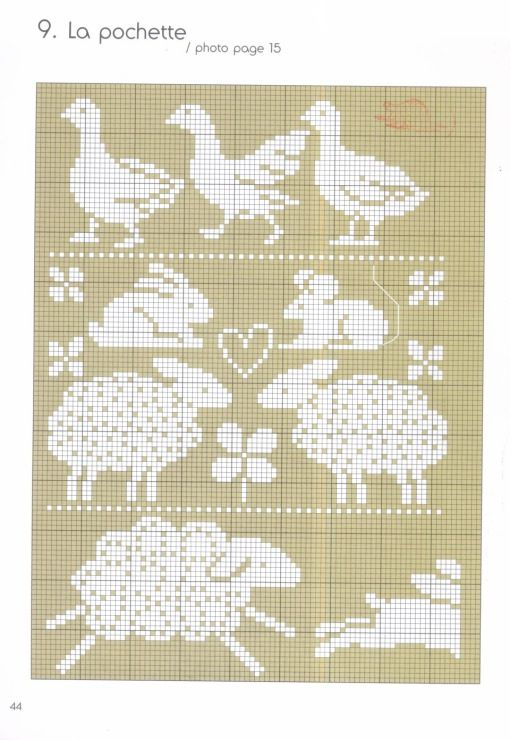Chart for sheep running cross stitch ~ Gallery.ru / Фото #41 ...
