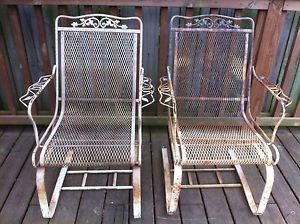 Vintage Wrought Iron Patio Chairs | Of Vintage Wrought Iron Chairs Patio  Porch Rockers Bouncers Rocking