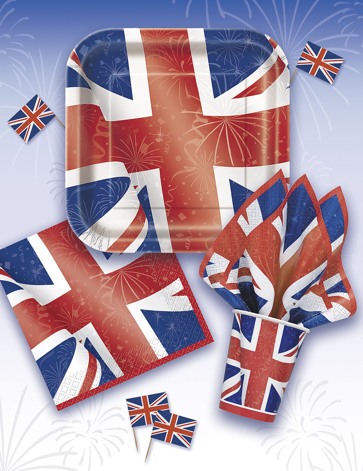 Best Of British (Union Jack) Partywaredecorationsballoongreat Britain