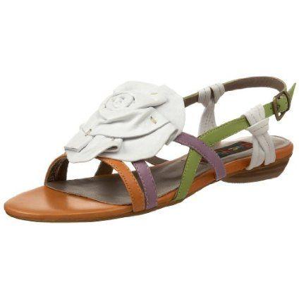 Everybody Women`s Avola Slingback Sandal,Orange/Violet Multi,37.5 EU/7.5 M US