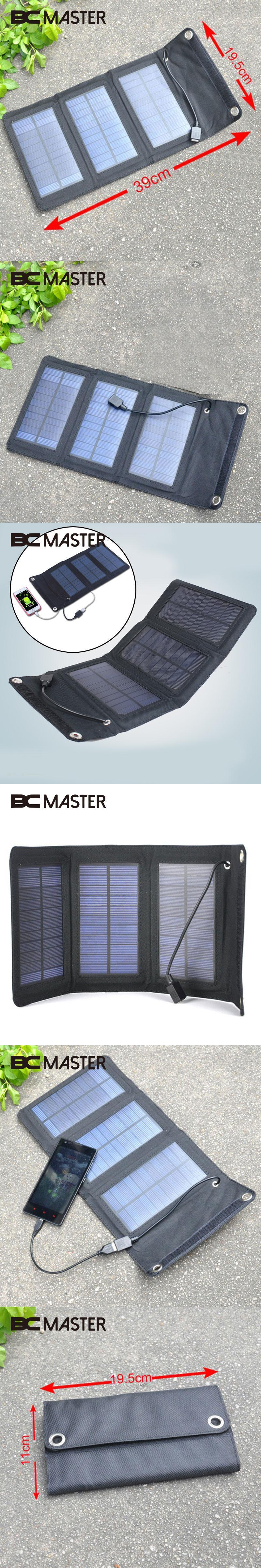 bcmaster 5w 5v foldable solar panel bank battery charger usb solar