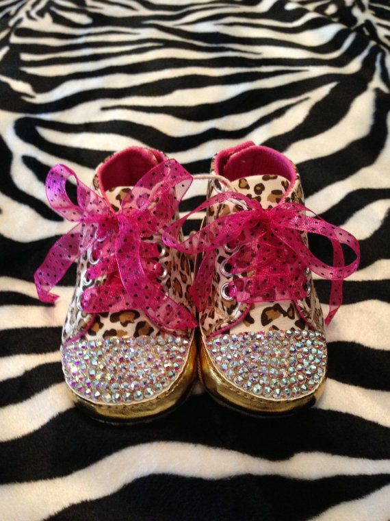 Bling Baby Girl Tennis Shoes with Swarovski by SparkleAndCharming ...