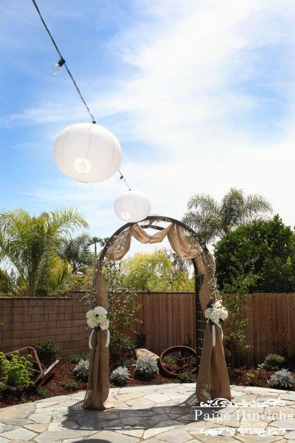 Diy Wedding Arch At Our Amazing Backyard Wedding Pretty