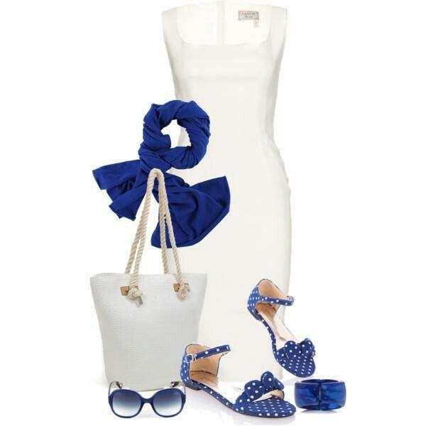 Blue & white fashion