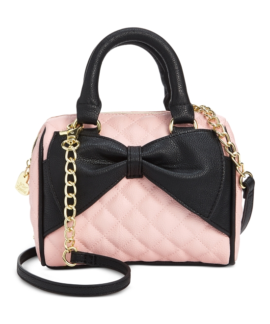 Betsey Johnson Mini Bow Quilted Satchel On 26 Off Macys Betseyjohnson
