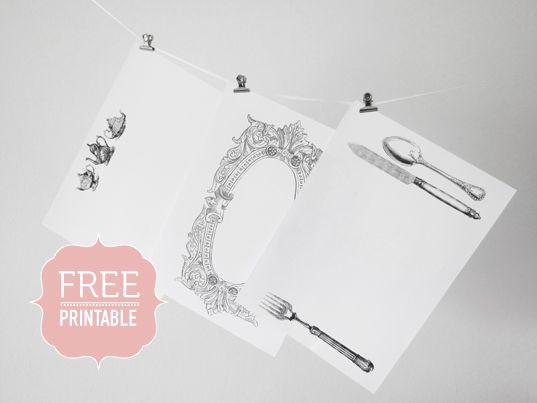 Free Printable Vintage Placemats Vintage Printables Vintage Paper Printable Placemat