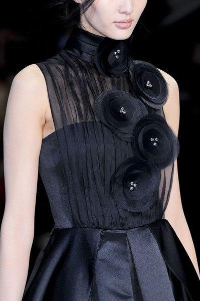 Emporio Armani at Milan Fashion Week Fall 2012 #fallbeauty