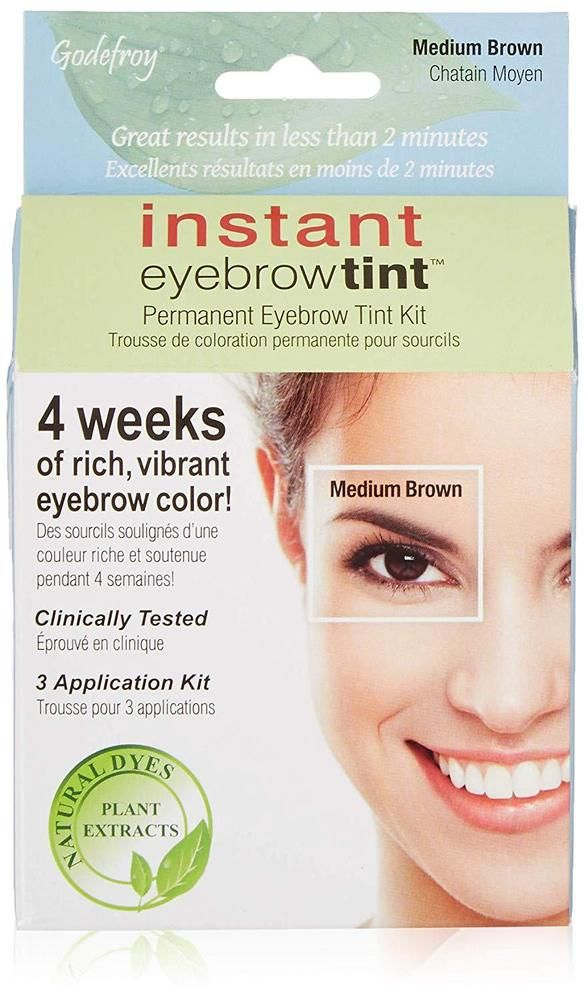 Details About Godefroy Eyebrow Tint Dye Kit Tinting Application