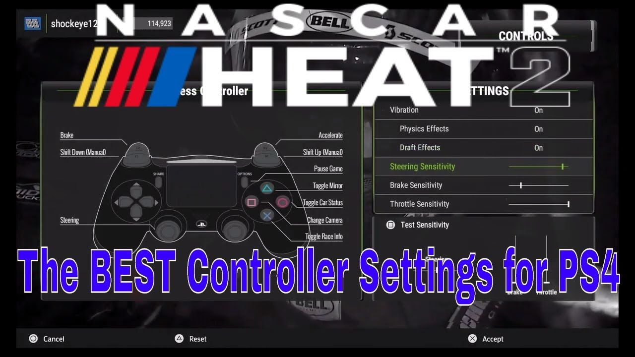 The Best Controller Settings Tutorial For Nascar Heat 2 For Ps4
