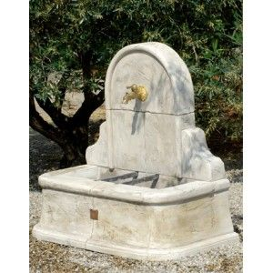 Fontaine murale St Tropez - pierre reconstituée | fontaine ...