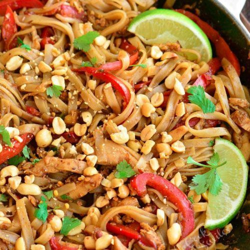 Pad Thai - Delicious, Fast, and Easy Made With Chicken or Shrimp