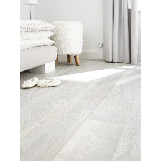 Sol PVC gris effet bois blanchi, ARTENS Reflex l4 m Chambre - dalle de sol chambre