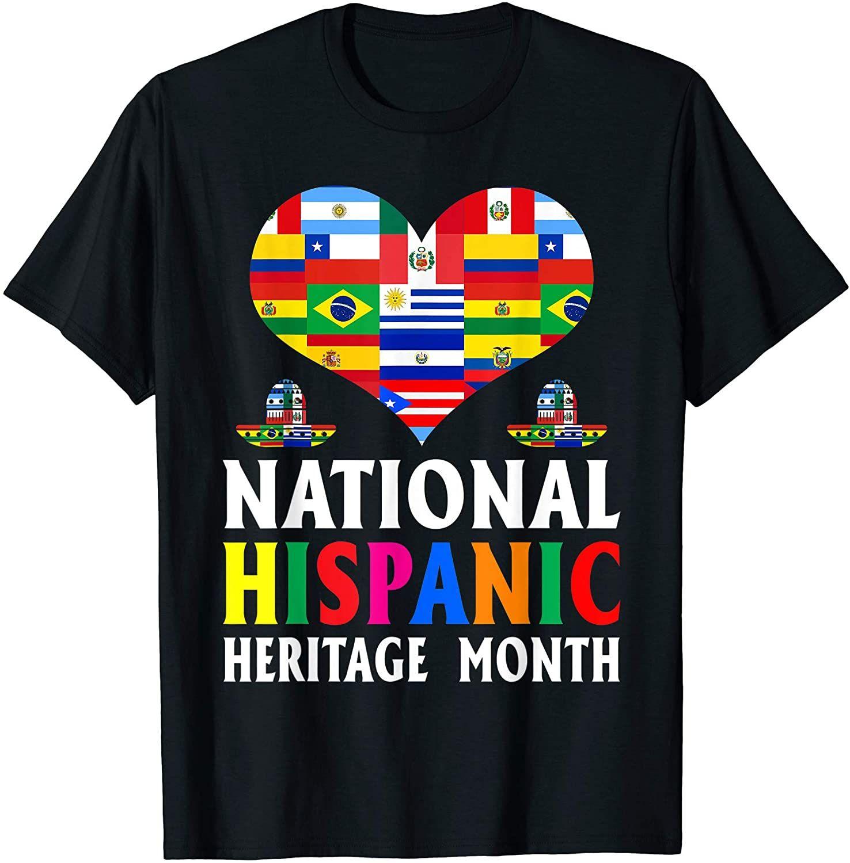 National Hispanic Heritage Month Heart T Shirt In