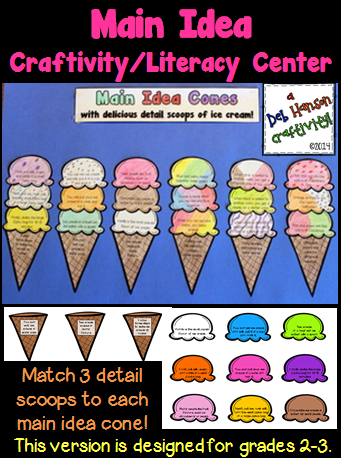 Main Idea Craftivity Or Literacy Center Grades 2 3 Craftivities
