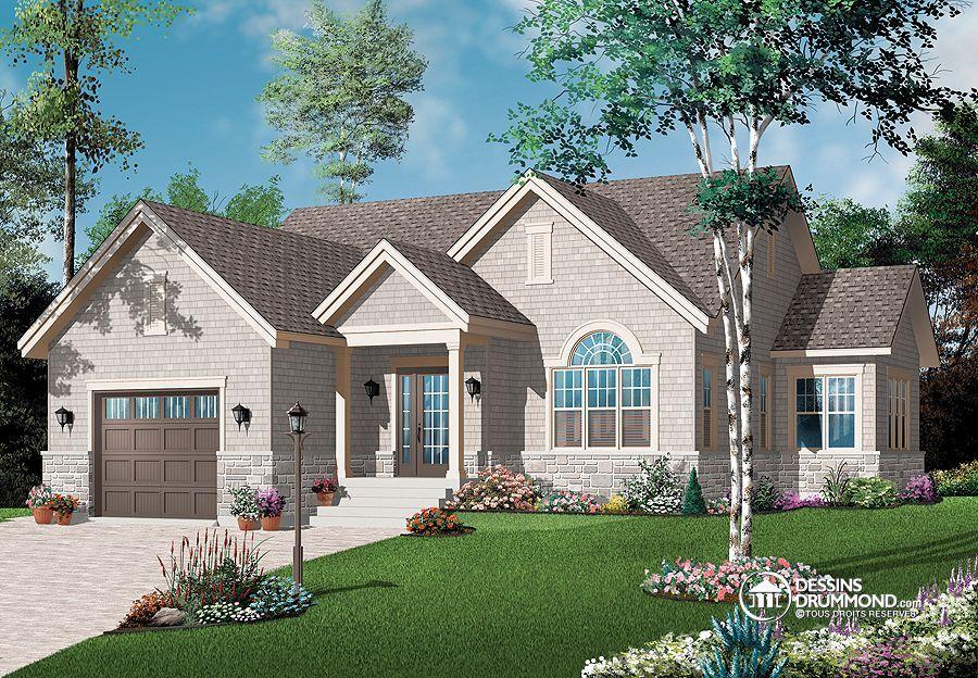 Détail du plan de Maison unifamiliale W3260 Idée maison - idee de plan de maison