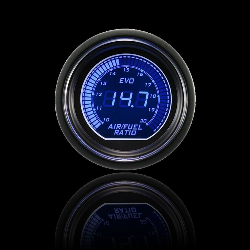 "Smoke Len 2/"" 52mm Blue Red Air Fuel Ratio Gauge Car Digital LED Light SF"