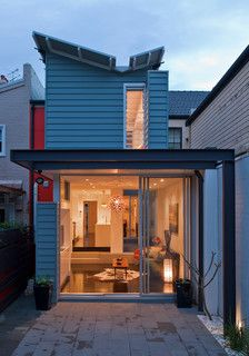 Houzz Tour Butterfly Roofs Top A Sydney Terrace House