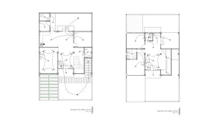 gambar rencana titik lampu lantai 1 dan 2 | lantai, rumah