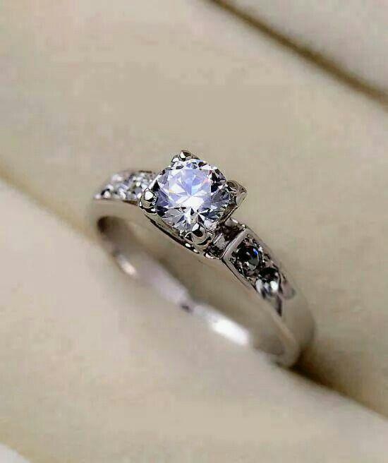 Simple But Beautiful Diamond Engagement Ring