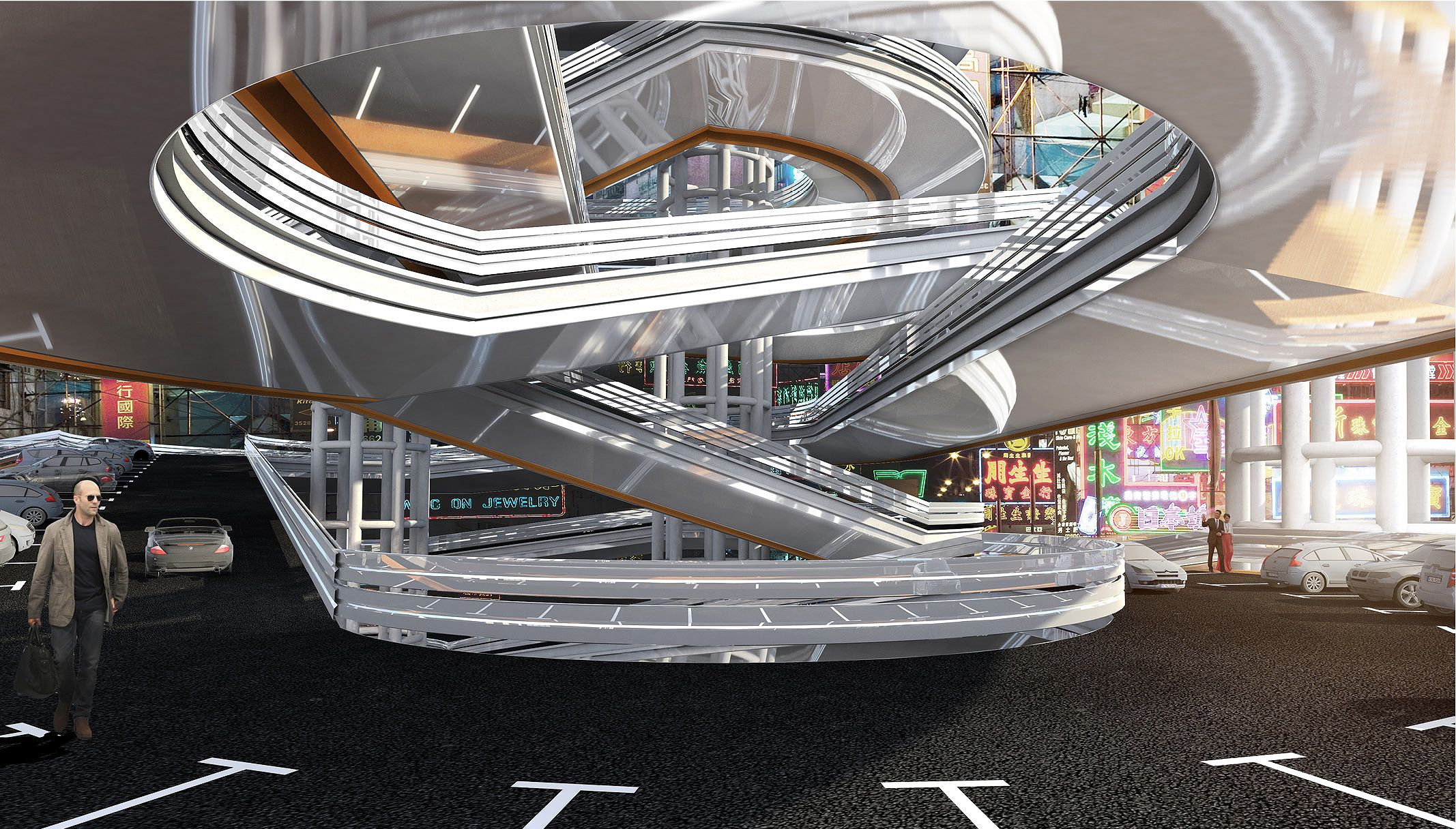 Rendering Parking in Hong Kong | Architecture | L'Atelier Senzu