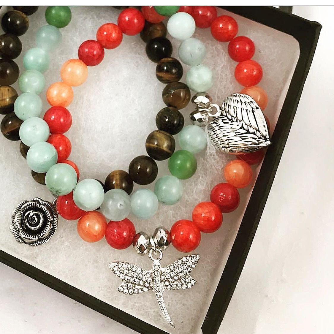 Charm stretch beaded bracelets designed by molly schaller bracelet