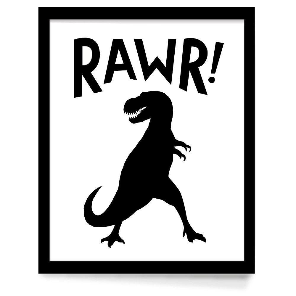 Rawr dinosaur theme nursery poster kinderzimmer - Poster jugendzimmer ...