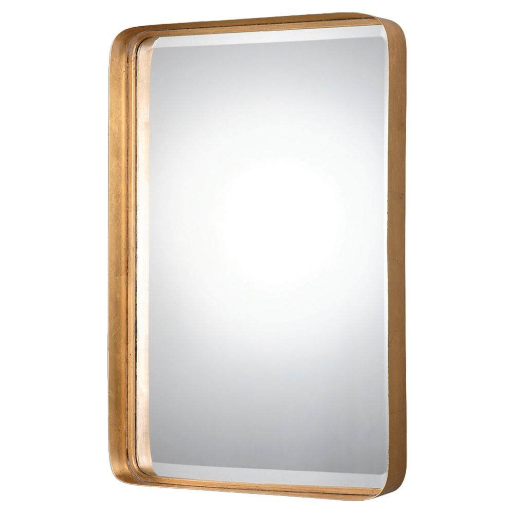 Rofel Modern Classic Gold Metal Strap Mirror Antique
