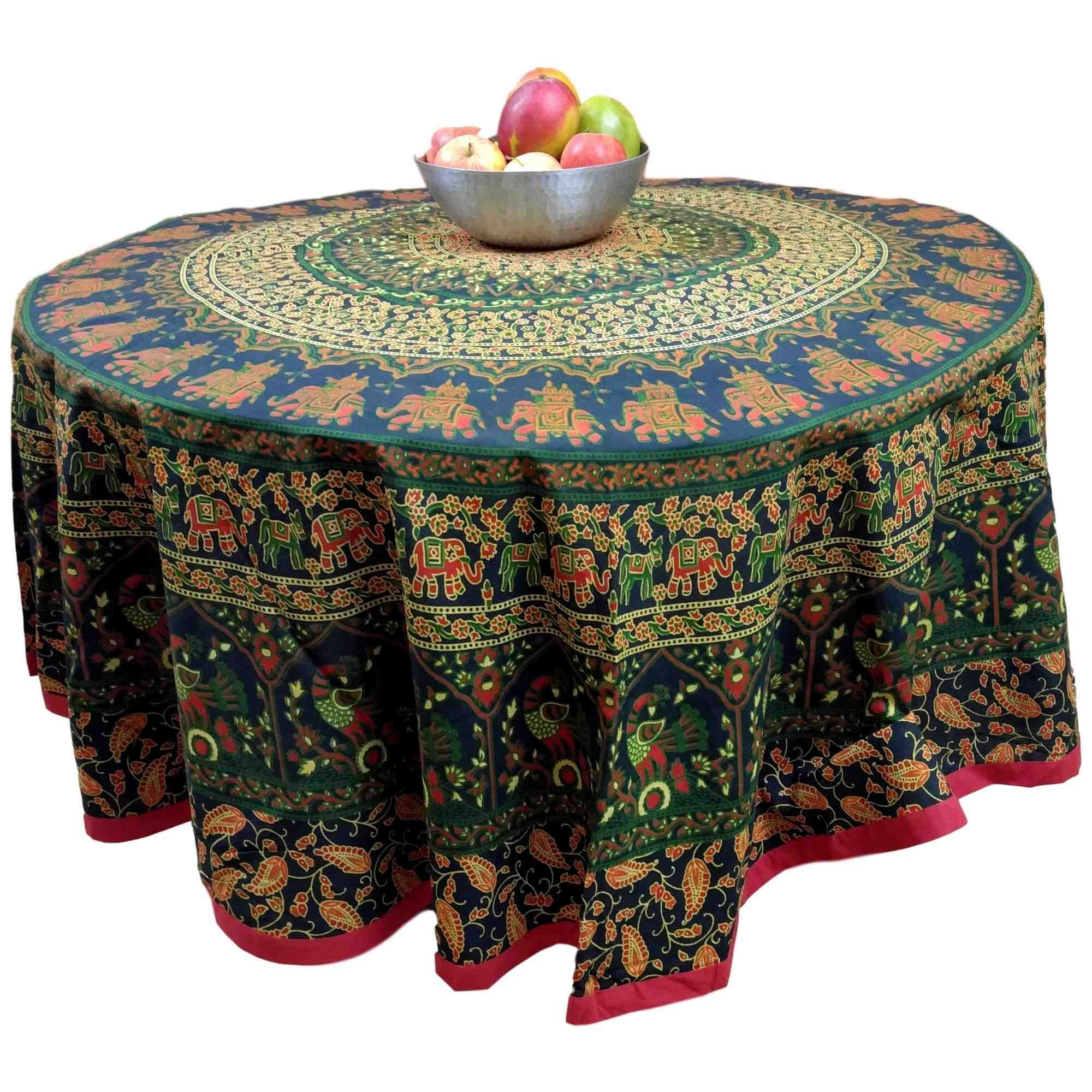 Handmade cotton elephant mandala floral