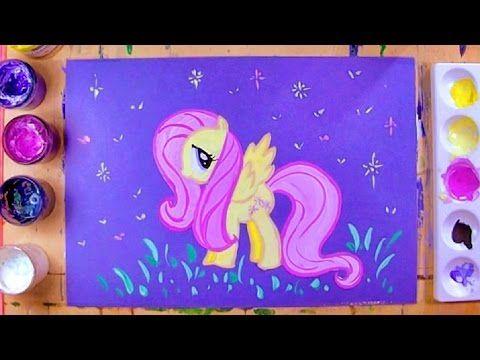 Как нарисовать пони ФЛАТТЕРШАЙ (Fluttershy) - урок рисования для детей лет, поэтапно - YouTube