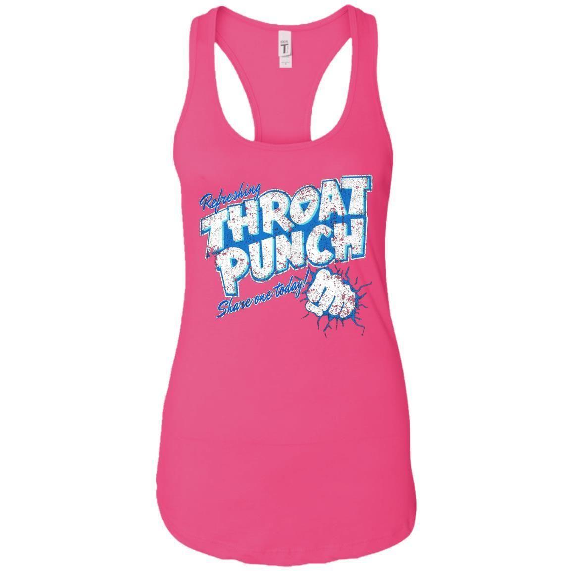 Refreshing Throat Punch Grunge Ladies Ideal Racerback Tank Day T Shirt Tank Top Fashion Racerback Tank Athletic Tank Tops