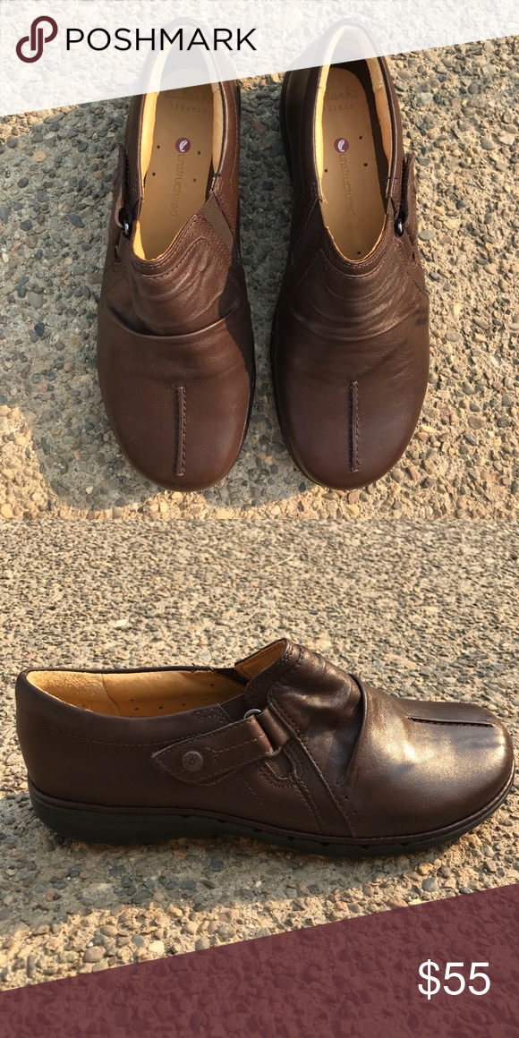Unstructured Leather Walking Shoes