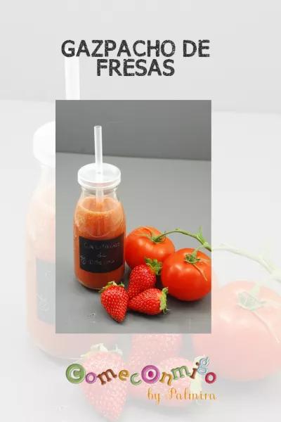 gazpacho de fresas y cerezas