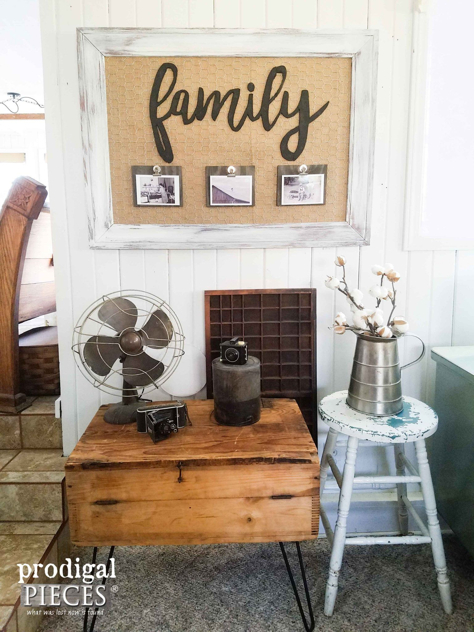 Reclaimed Framed Wall Art With Family Memory Board By Prodigal