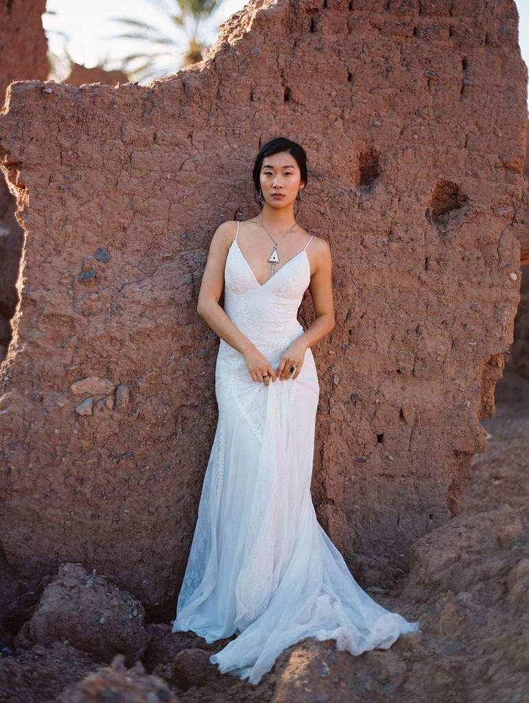 Wilderly bride by allure bridals f lace vneck wedding dress