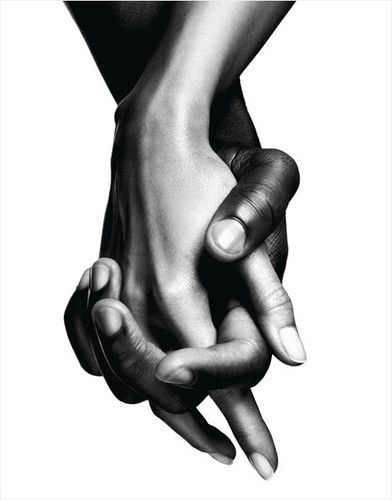 Nude interracial couple holding hands question interesting