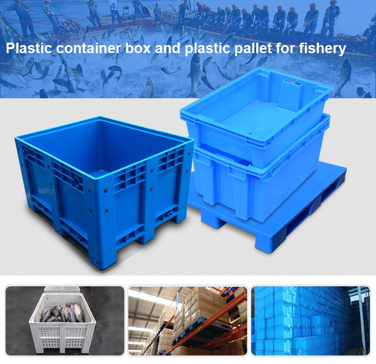 Solid Plastic Pallet Box Box Pallet With Lid Solid Plastic Pallet Box Boxpalletwithlid Solidplasticpallet Pallet Boxes Plastic Pallets Plastic Containers