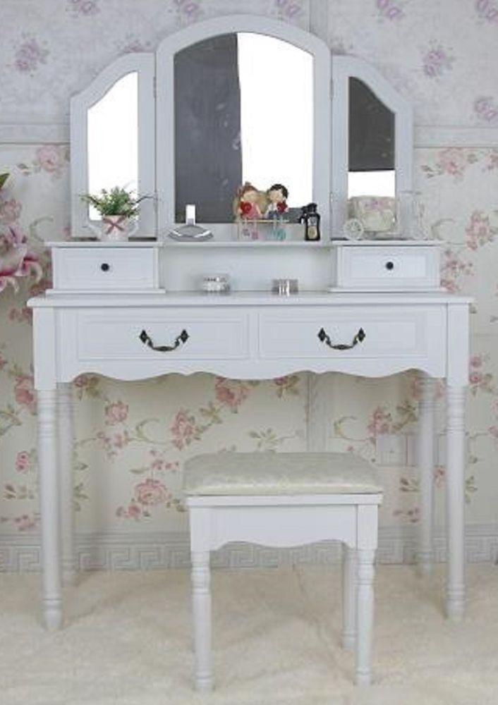 gro er schminktisch 3 spiegel frisierkommode frisiertisch. Black Bedroom Furniture Sets. Home Design Ideas